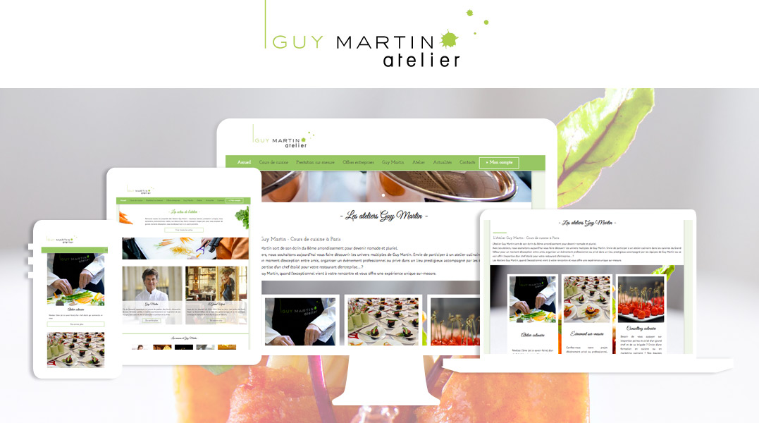 Nok web cr ation de sites web portfolio for Atelier guy martin cours cuisine